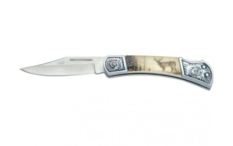 JKR Stag Folding Pocket Knife